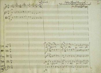 Tampilan partitur Lacrimosa