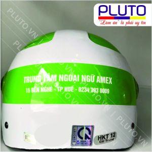 Mũ bảo hiểm in logo - Ngoại ngữ Amex