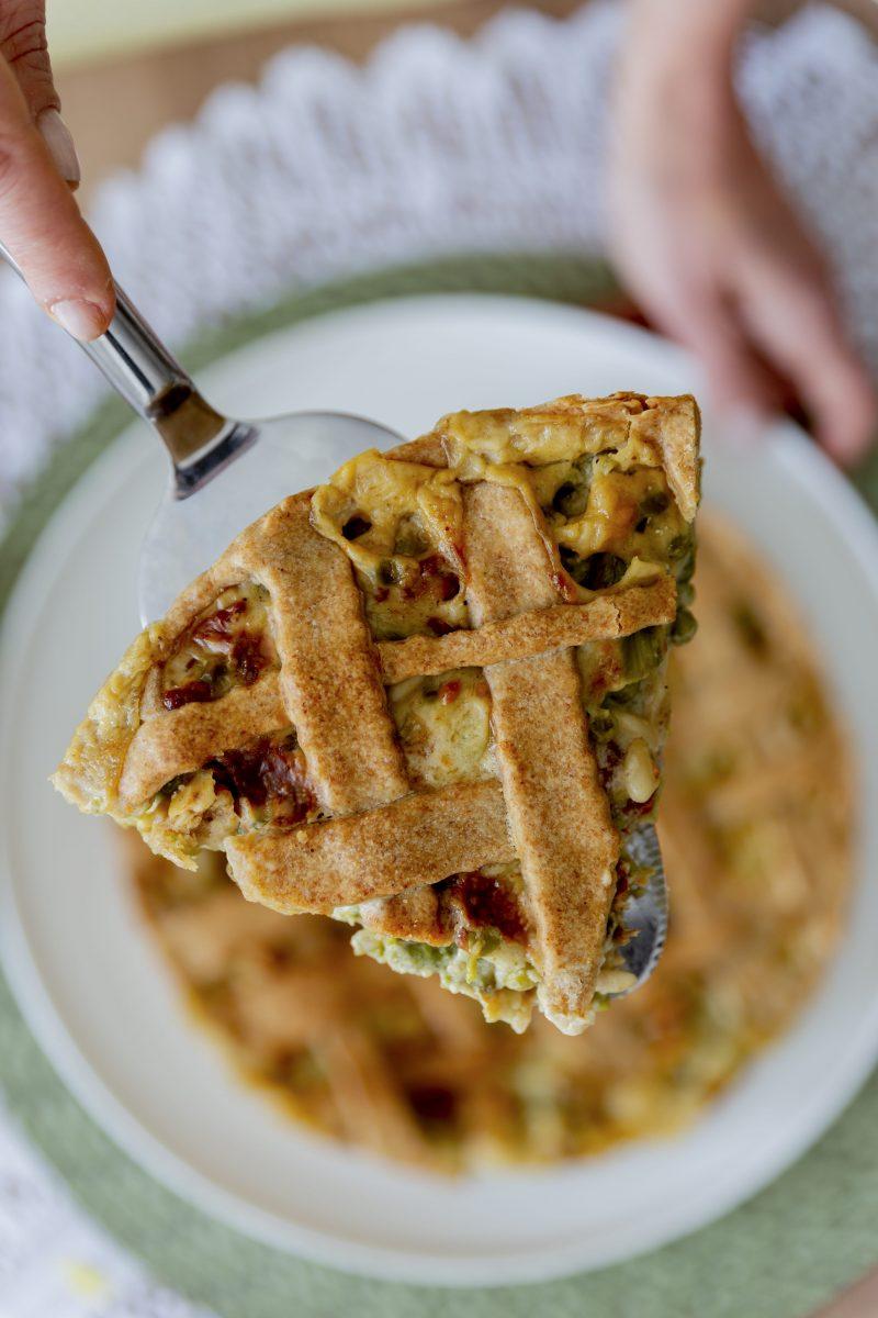 Crostata salata Piselli e Asparagi - Non Chiamatela Dieta