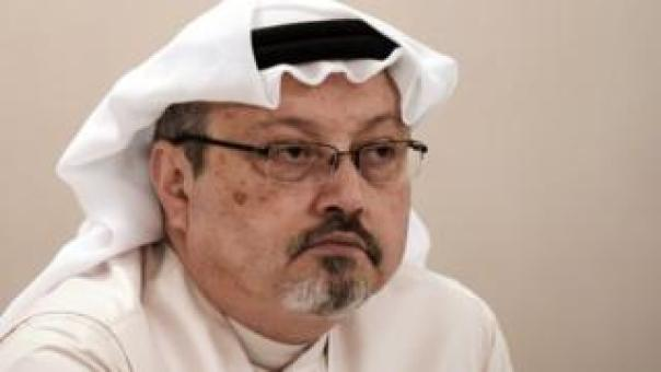 In this file photo taken on December 15, 2014 Saudi journalist Jamal Khashoggi attends a press conference in the Bahraini capital Manama