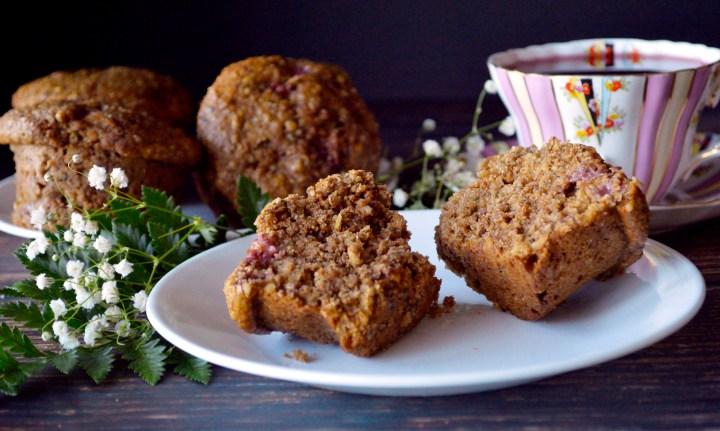 Strawberry Pecan Breakfast Muffins