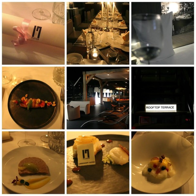 7 course dinner at Floor17, hotel rooftop restaurant with skybar noni may
