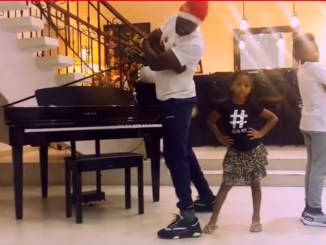 Peter Okoye, Son And Daughter Dance To Celebrate Christmas