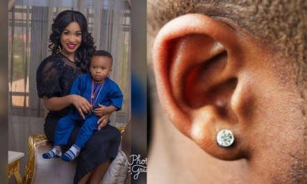 'What I Will Do If My Son Even At 18 Comes Home With Earrings' – Tonto Dikeh