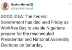 FG Declares Friday Public Holiday, Excludes Bankers