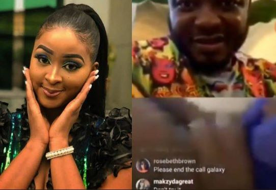 [Video] Actress Etinosa strips naked for MC Galaxy during live video