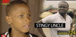 """he Mark Angel Comedy unleash this week's piece of comedy video off their weekly comedy video series on this episode titled Stingy Uncle, and as usual, it's comes so funny. In this very funny video """"Stingy Uncle"""" which is the 224th episode of the Mark Angel Comedy, Chukwuemeka is back and in this video. This funny African comedy will make you laugh. Chukwuemeka has done it again, this time he finishes stingy uncle with his antic."""