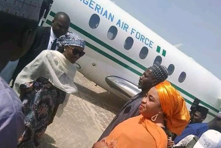 Wawu! Buhari's Daughter goes to Party in Presidential Jet