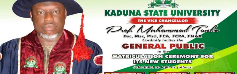 KASU Matriculation Ceremony Date for 2019/2020 New Students