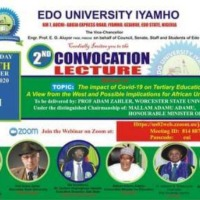 Edo University 2nd Convocation Ceremony: Schedule of Events