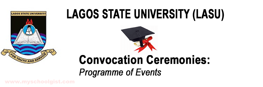 Lagos State University (LASU) 24th Convocation Ceremony Date, Programme of Events