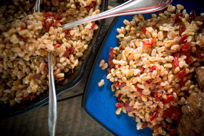 farro-with-sundried-tomatoes-garlic-onion-and-parsley