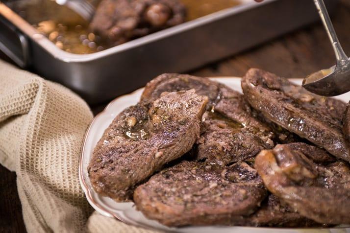 Italian roasted, marinated lamb chops