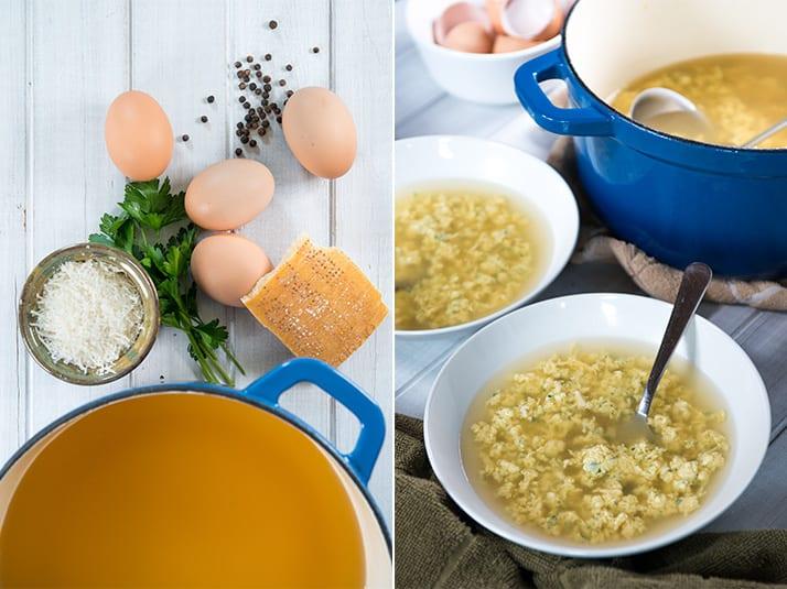 Italian stracciatella soup
