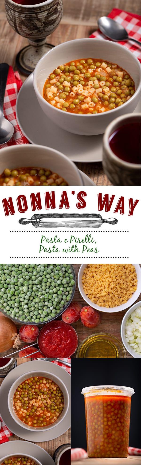 Simple but bursting with flavour - Italian pasta with peas, pasta piselli.