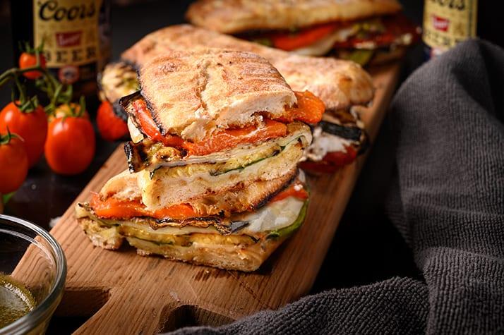 roasted vegetable panini