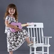 Kids Concept Krzesełko Bujane z Gwiazdkami Różowe2