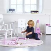 Kids Concept Krzesełko Bujane z Gwiazdkami Różowe3