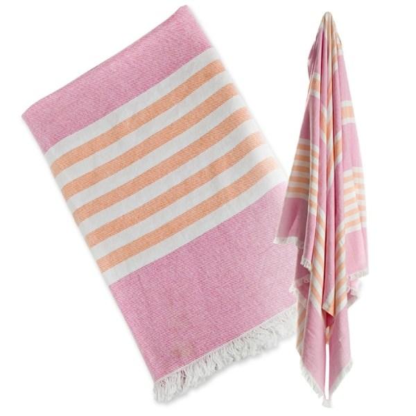 Lulujo Ręcznik Turecki 3w1 Różowy