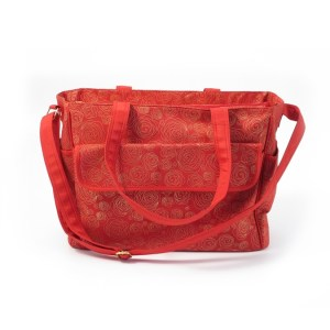 Summer Infant Torba Do Wózka Messenger Red Gold Swirl1