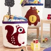 3 Sprouts Kosz Na Zabawki Niedźwiedź2