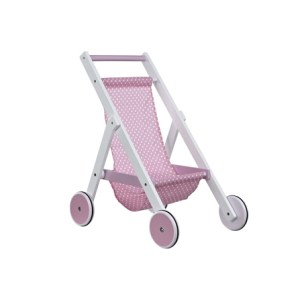 Kids Concept Drewniany Wózek dla Lalek Różowy