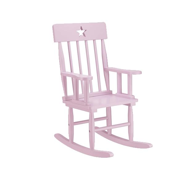 Kids Concept Krzesełko Bujane z Gwiazdkami Różowe1