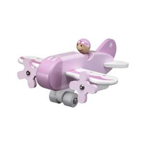 Kids Concept Drewniany Samolot Różowy