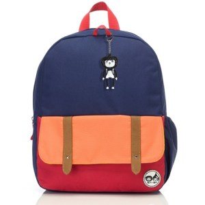 ip & Zoe Plecak Junior Navy Color Block