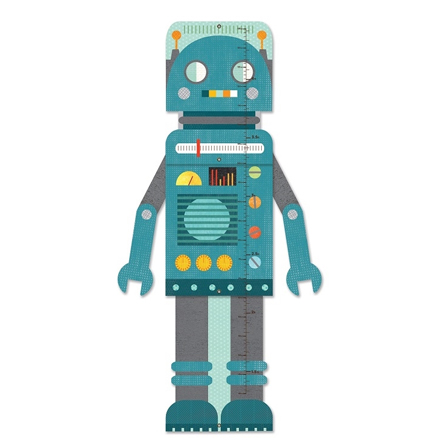 Petit Collage Miarka Wzrostu Robot Blue