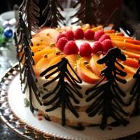 Bellini Perzik Taart met Pistache Cake
