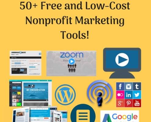 50 Free Nonprofit Marketing Tools