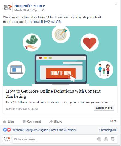online fundraising ideas nonprofits source facebook advertising