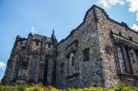 Inside the Edinburgh Castle