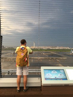 Observation deck at HND. His favorite place in all of Japan.