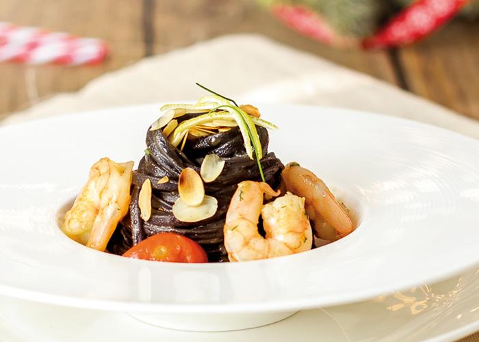 piatti mare linguine nero di seppia