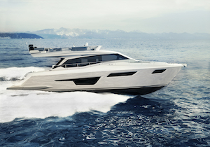Ferretti Yachts 500, nuove soluzioni progettuali e due mood di interior