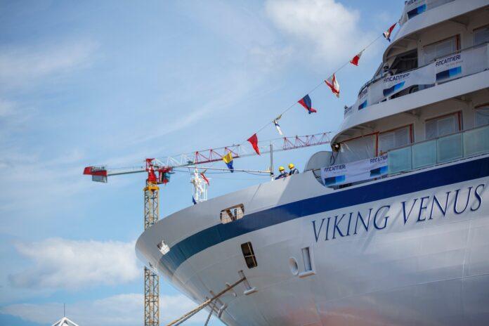 Ancona, nel cantiere Fincantieri varata la nave da crociera Viking Venus