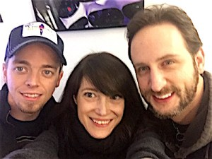 Fltr: Ben Wells, Monica Mel of Global Rockstar, Jon Lawhon