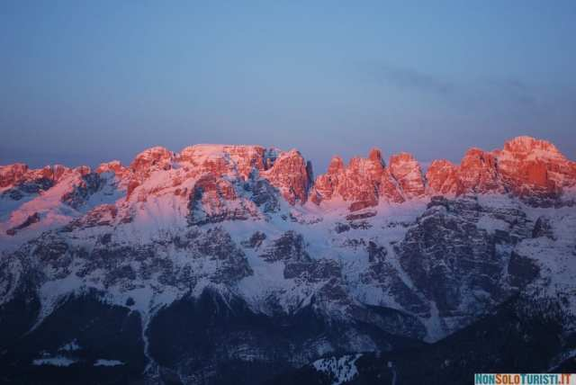 Alba sulle Dolomiti di Brenta (foto di Flavio Alagia)