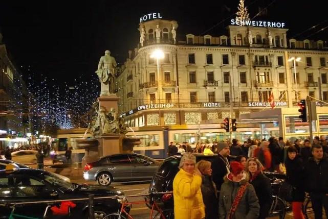 Zurigo a Natale sulla Bahnhofstrasse
