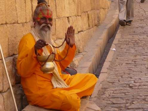 Un sadhu (santone induista).