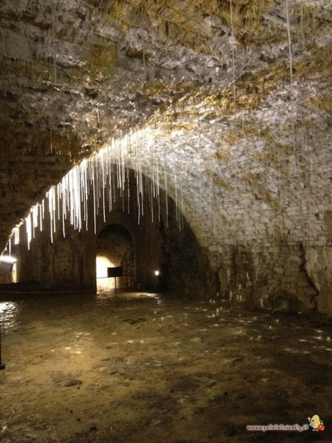 Le stalattiti nella Cannoniera di San Michele
