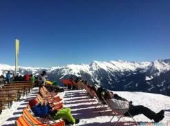 Una meritata pausa dopo una mattinata sugli sci