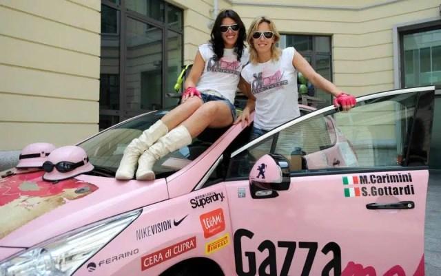 Le Donne al volante sulla Gazzamobile