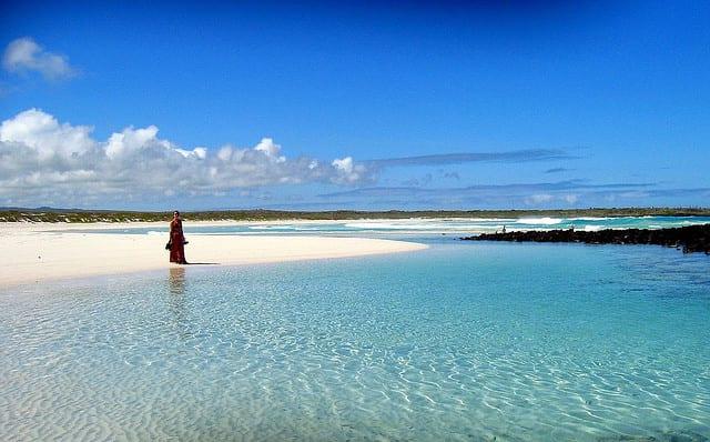 Una spiaggia dell'arcipelago delle Galapagos (foto di mtchm)