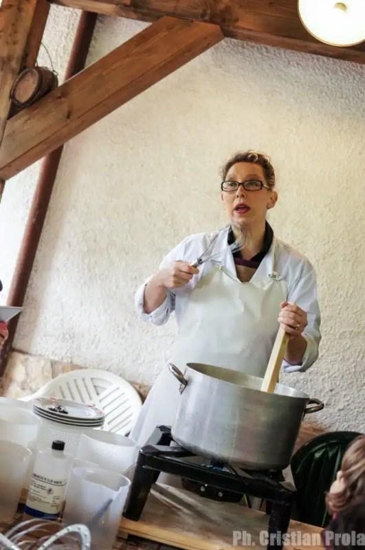 Marianna dell'Agriturismo al Cucco (foto di Cristian Prola)