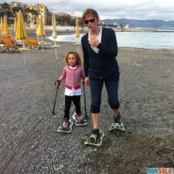 Ciaspolata in spiaggia