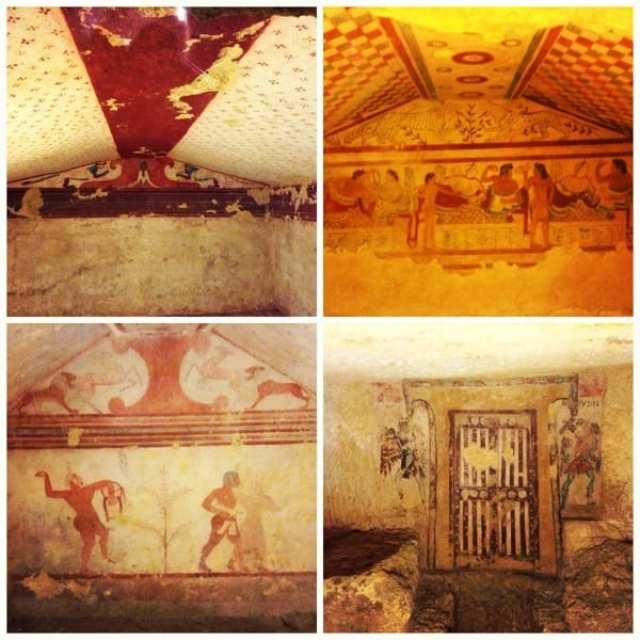 I dipinti delle tombe etrusche nella Necropoli di Tarquinia