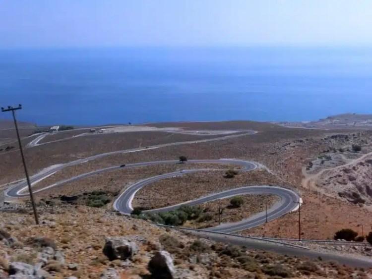 Strada - Sfakia (Creta), Grecia